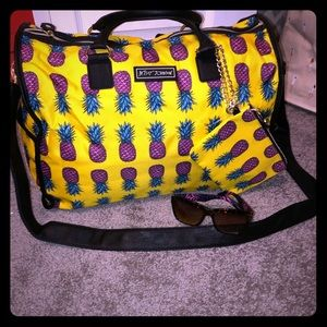 Betsey Johnson duffle bag/sunglasses